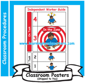 3: Independent Worker Guide - Poster Set