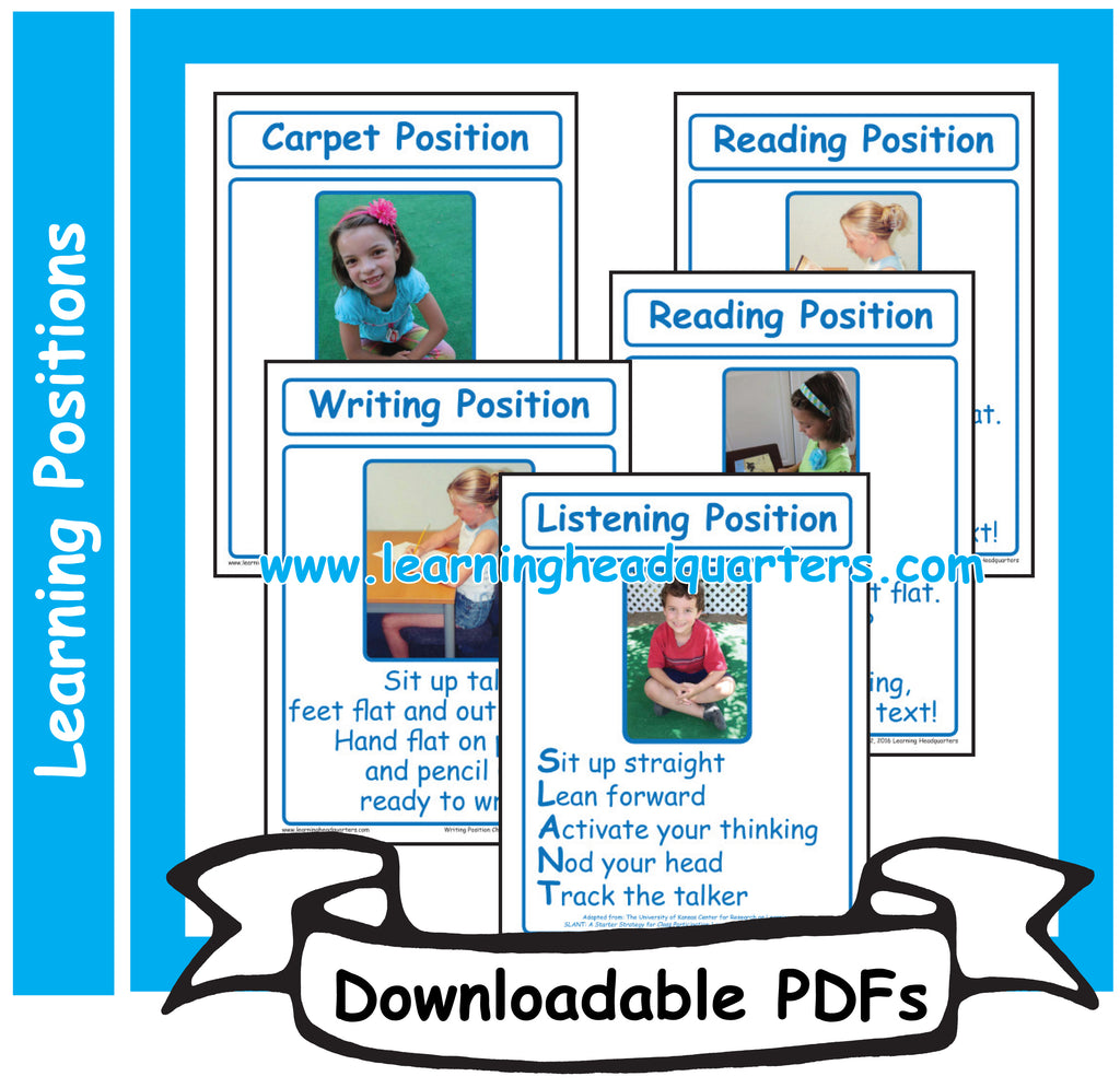 6: Learning Positions - Downloadable PDFs