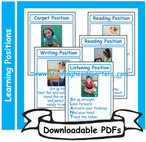 1: Learning Positions - Downloadable PDFs
