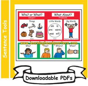 K: Who/What Chart - Downloadable PDFs