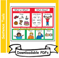 4: Who/What Sentence Tools - Downloadable PDFs