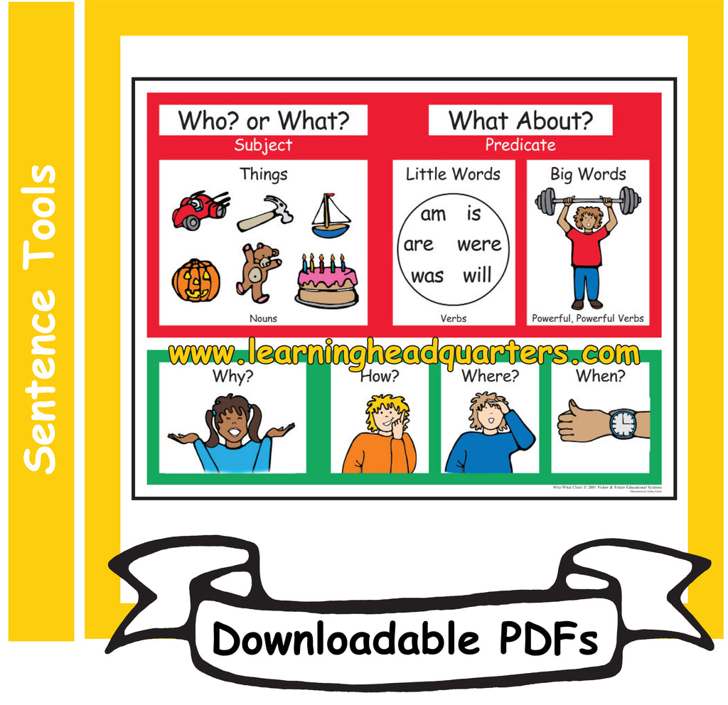 2: Who/What Chart - Downloadable PDFs