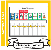 1: Powerful Sentences Chart - Individual Poster (SPANISH)
