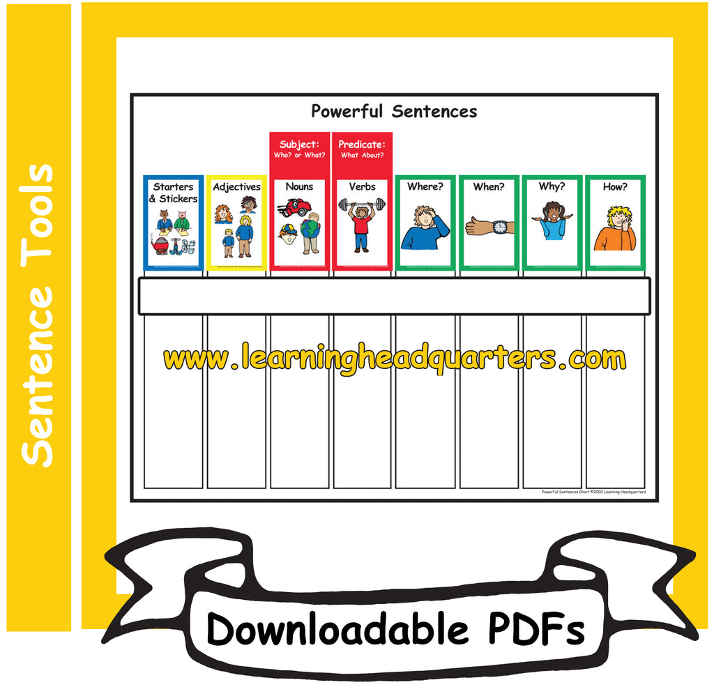 5: Powerful Sentences Chart - Downloadable PDFs (SPANISH)