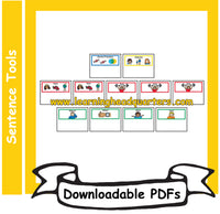 4: Sentence Blueprints Cards - Downloadable PDFs (SPANISH)