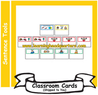 6: Sentence Blueprints Cards - Card Set (SPANISH)
