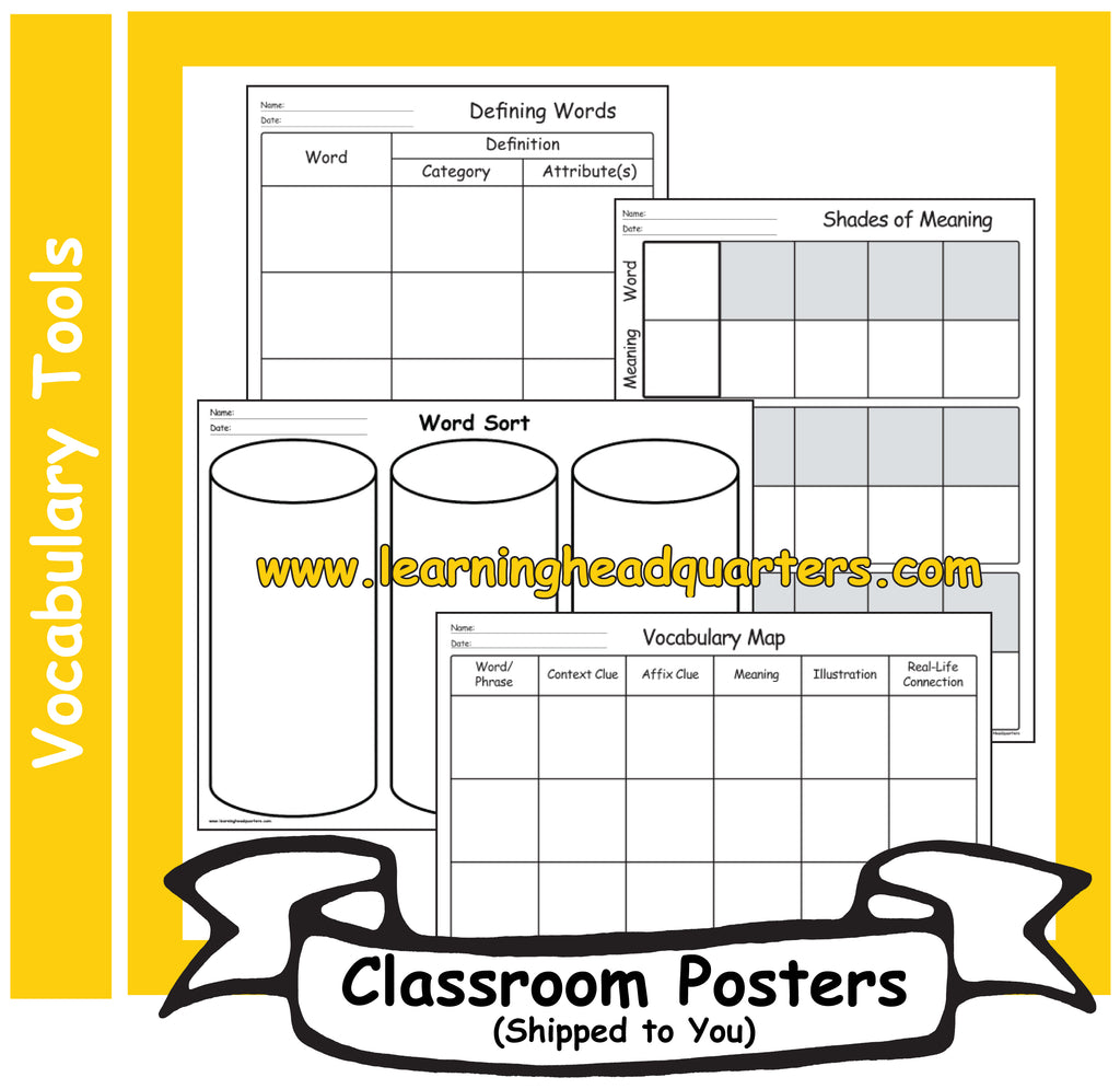 1: Vocabulary Tools - Poster Set
