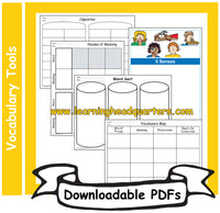 K: Vocabulary Tools - Downloadable PDFs