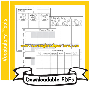 2: Vocabulary Tools - Downloadable PDFs