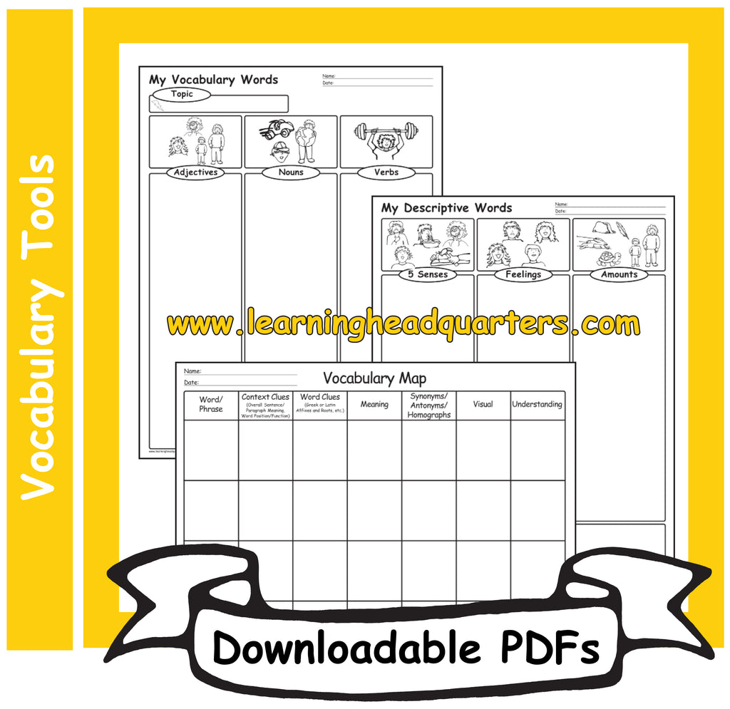6: Vocabulary Tools - Downloadable PDFs