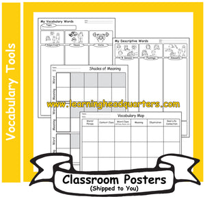3: Vocabulary Tools - Poster Set