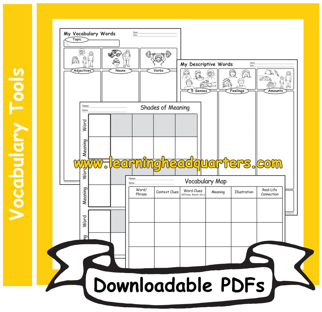 3: Vocabulary Tools - Downloadable PDFs