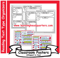K: Reading Text Type Organizers - Poster Set