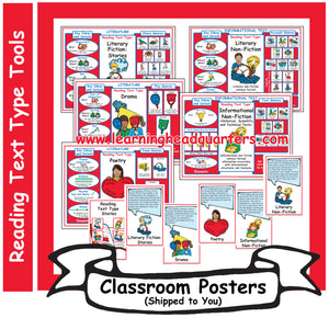 4: Reading Text Type Tools - Poster Set