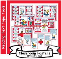 6: Reading Text Type Tools - Poster Set