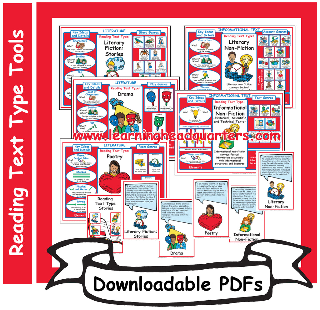 K: Reading Text Type Tools - Downloadable PDFs