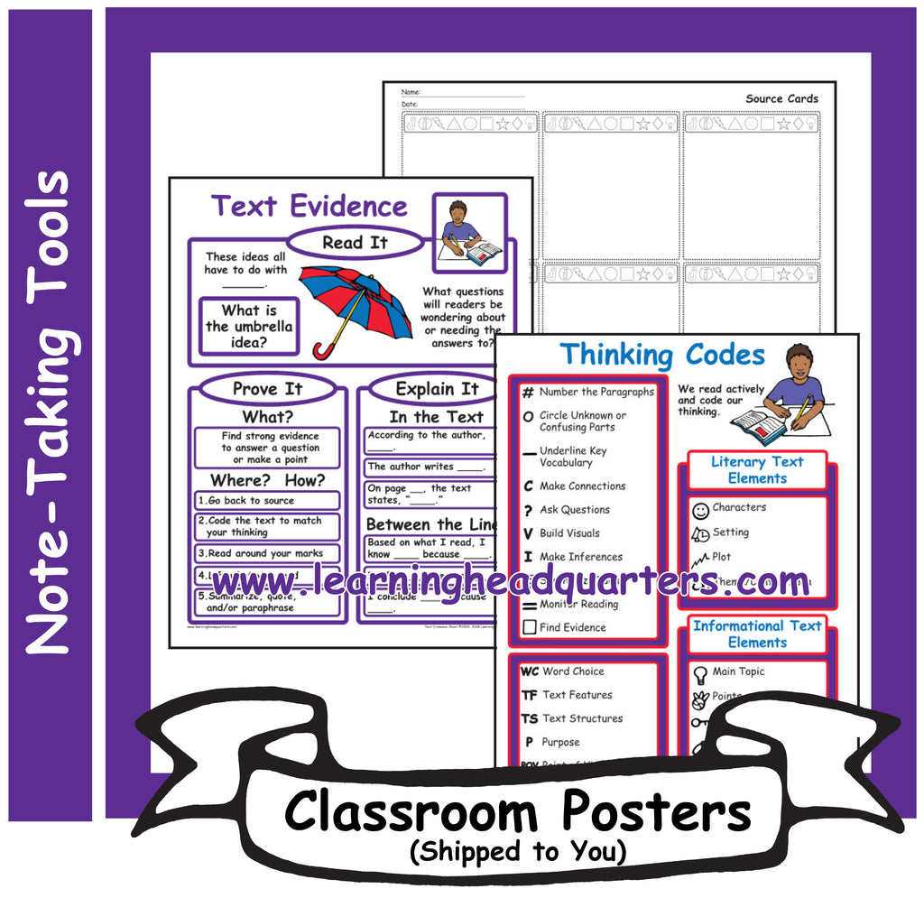4: Note-Taking Tools - Poster Set