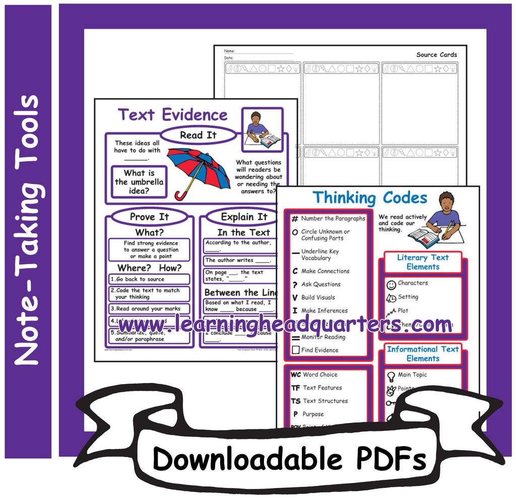 3: Note-Taking Tools - Downloadable PDFs