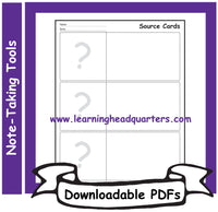 K: Note-Taking Tools - Downloadable PDFs