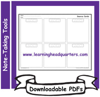 1: Note-Taking Tools - Downloadable PDFs