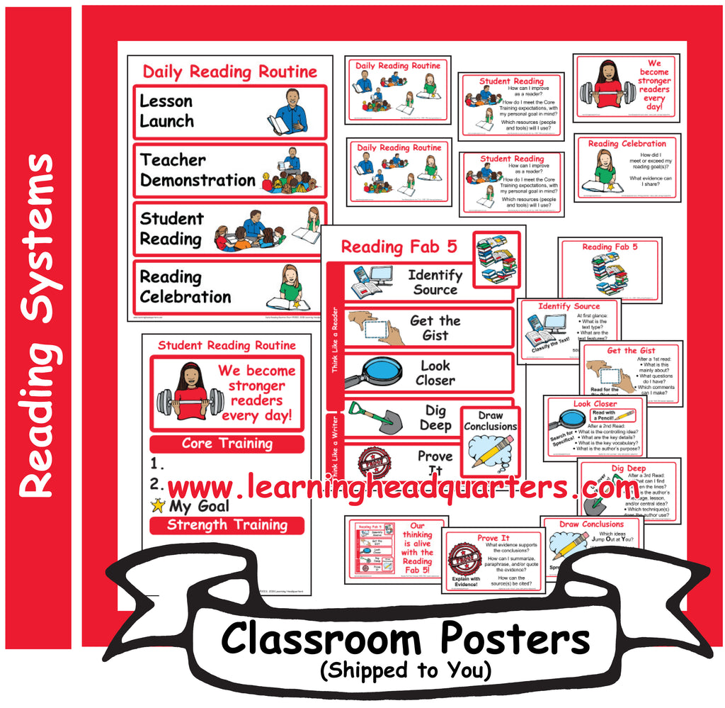 6: Reading Systems - Poster Set