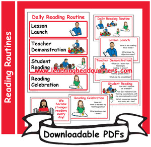 3: Daily Reading Routine - Downloadable PDFs