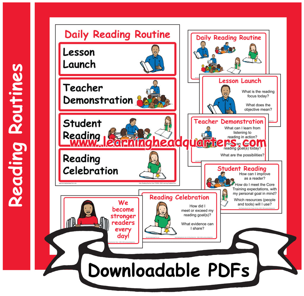 1: Daily Reading Routine - Downloadable PDFs