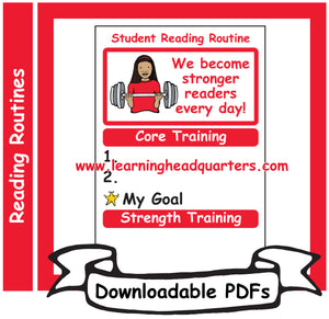 6: Student Reading Routine - Downloadable PDFs