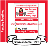 K: Student Reading Routine - Downloadable PDFs