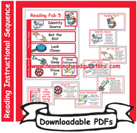 5: Reading Fab 5 Instructional Sequence - Downloadable PDFs