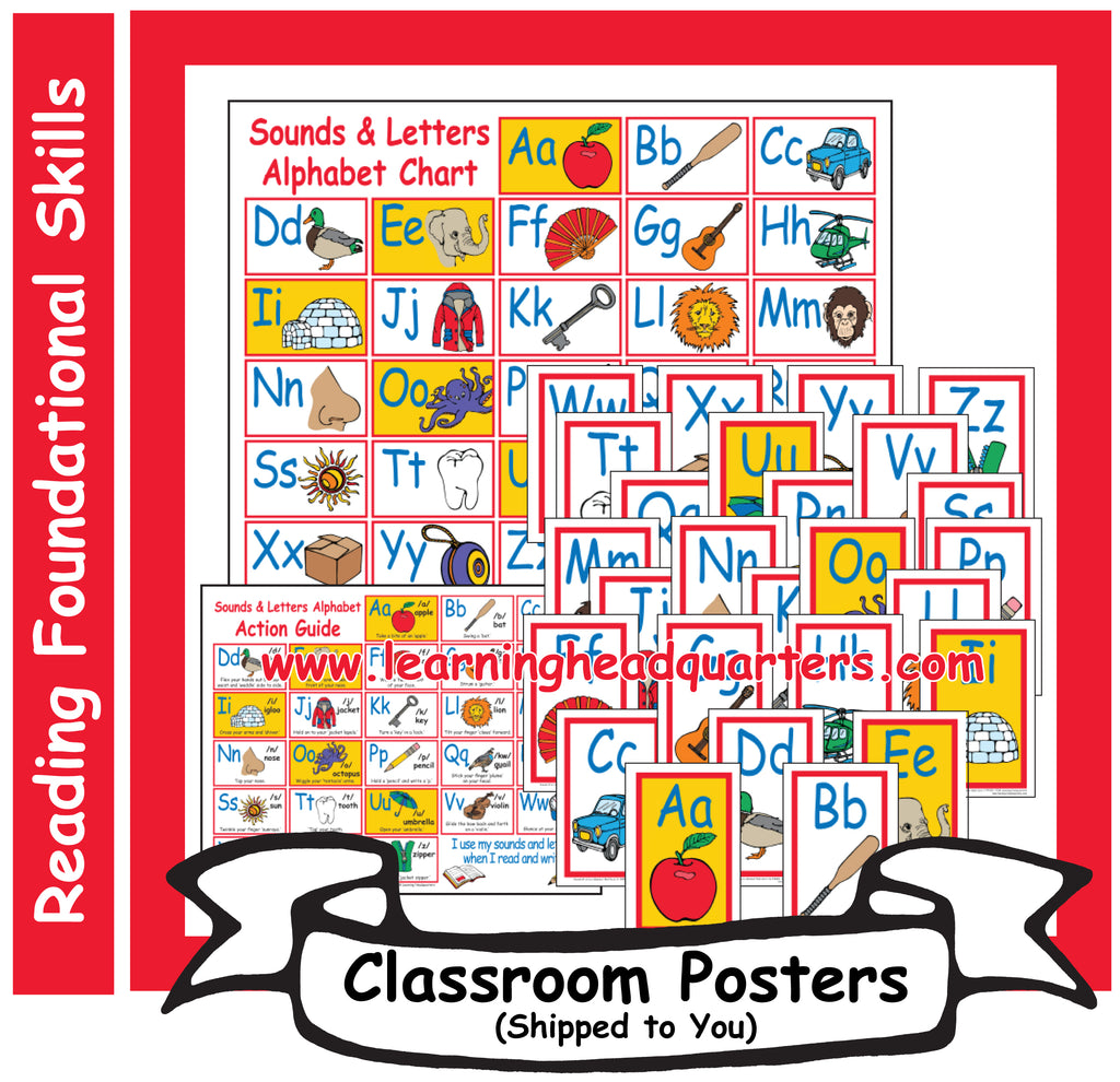 K: Sounds & Letters Alphabet - Poster Set