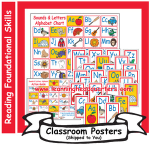 1: Sounds & Letters Alphabet - Poster Set