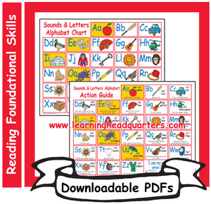1: Sounds & Letters Alphabet Chart - Downloadable PDFs