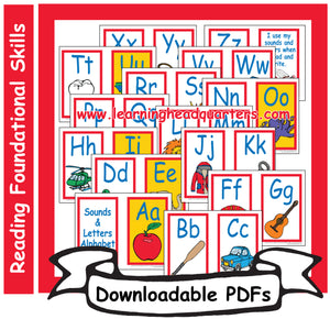1: Sounds & Letters Alphabet Cards - Downloadable PDFs