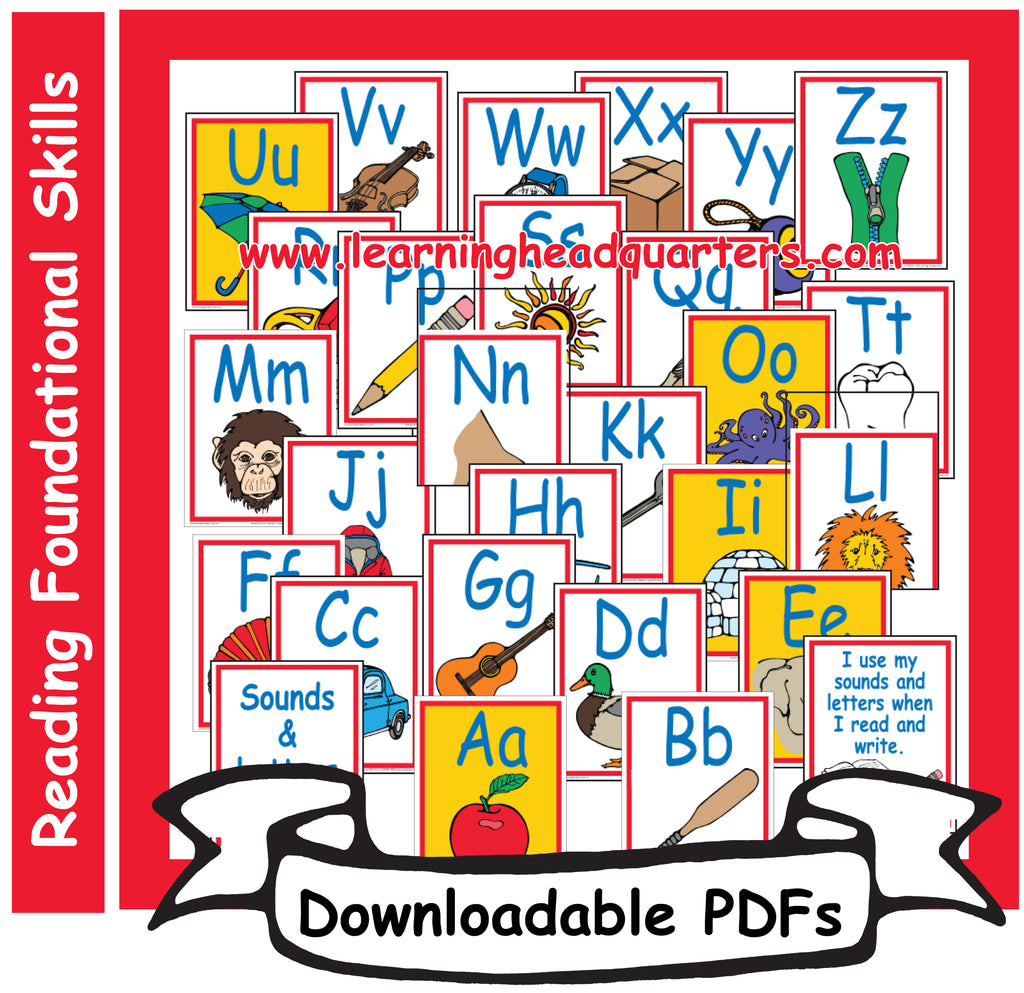 1: Sounds & Letters Alphabet Large Cards - Downloadable PDFs