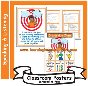 1: Speaking and Listening Systems & Tools - Poster Set