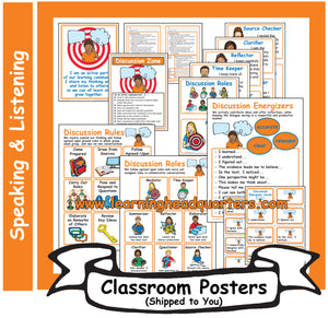 5: Speaking and Listening Systems & Tools - Poster Set
