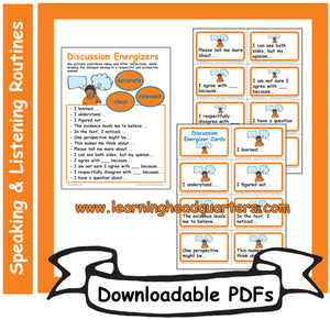 4: Discussion Energizers - Downloadable PDFs
