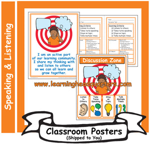 K: Speaking and Listening Systems & Tools - Poster Set