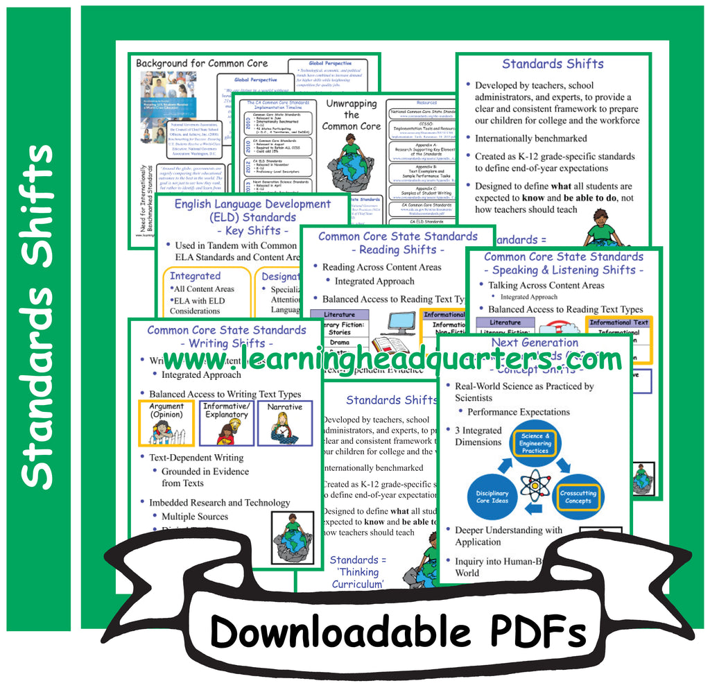3: Standards Shifts - Downloadable PDFs