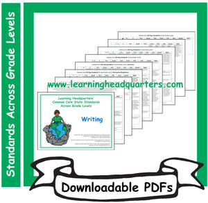 5: Standards Across Grade Levels (ELA) - Downloadable PDFs