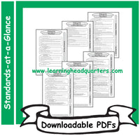 5: Common Core State Standards-at-a-Glance (ELA) - Downloadable PDFs