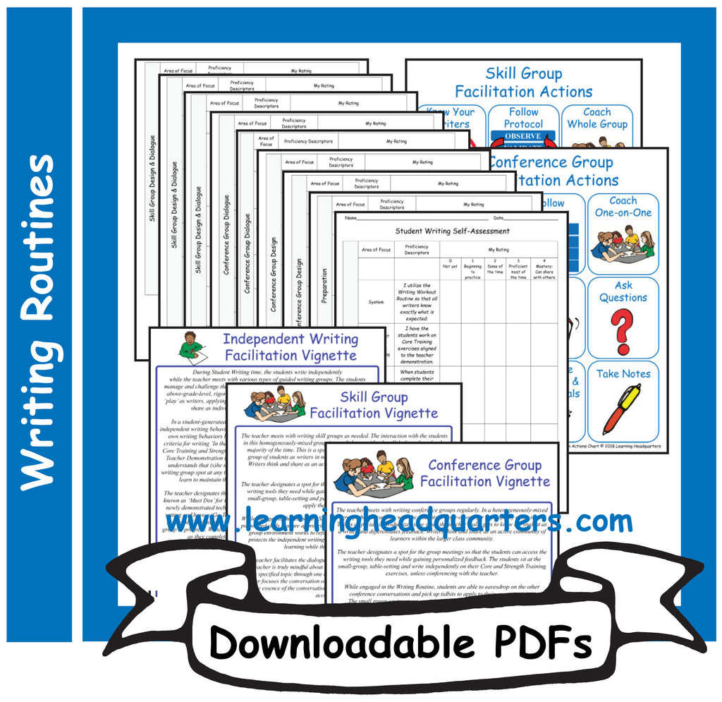 K: Student Writing Facilitation Tools - Downloadable PDFs