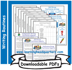 3: Student Writing Facilitation Tools - Downloadable PDFs