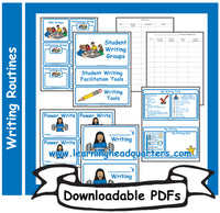 K: Student Writing Routine Folder Tools - Downloadable PDFs