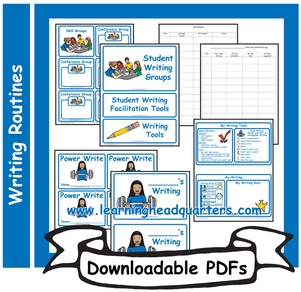 4: Student Writing Routine Folder Tools - Downloadable PDFs