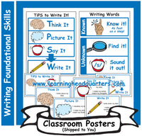 6: Writing Foundational Skills - Poster Set