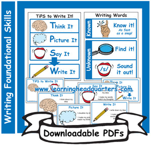 1: Writing Foundational Skills - Downloadable PDFs