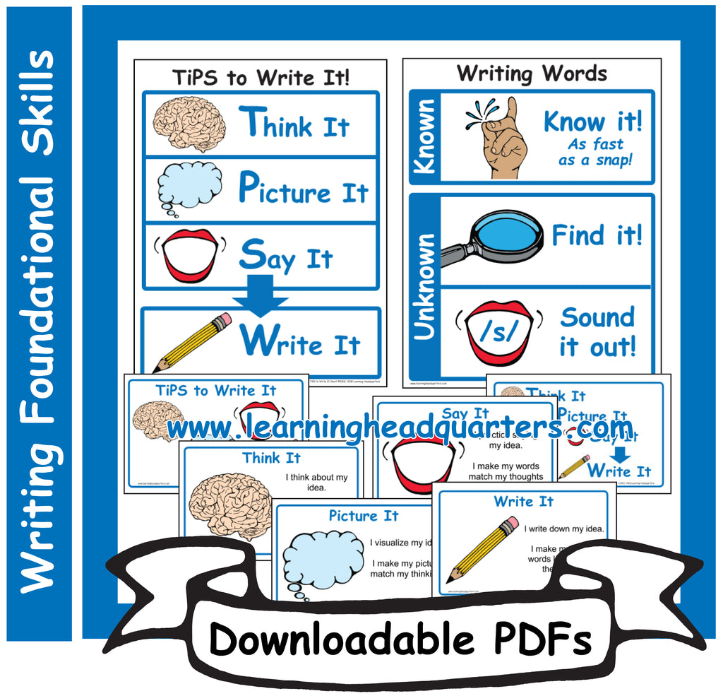 4: Writing Foundational Skills - Downloadable PDFs