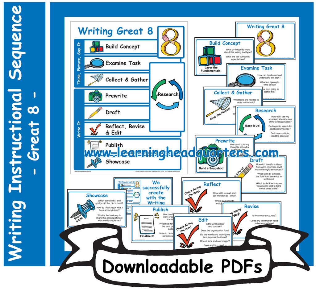 1: Writing Great 8 Instructional Sequence - Downloadable PDFs